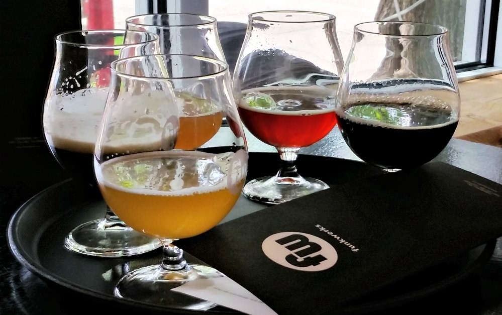 Local Brewery Funkwerks Beer Flight - a local's guide to Denver