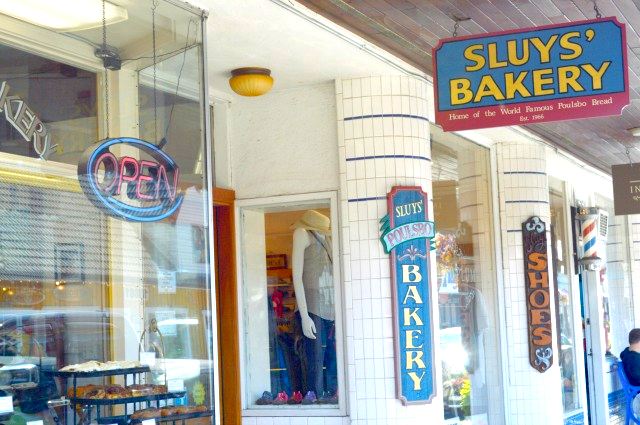 A local's guide to Poulsbo - Close up of Sluys's Bakery