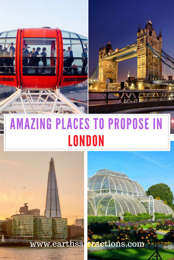 Amazing places to propose in London; Discover the top reasons why you should propose in #London #UK