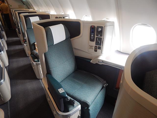 business coach airplane
