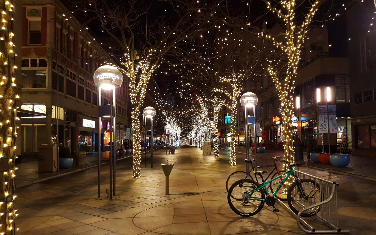 16th Street Mall at Night Around Christmas Time - top attractions in Denver