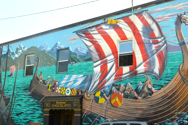A local's guide to Poulsbo - Viking Mural on the main downtown street