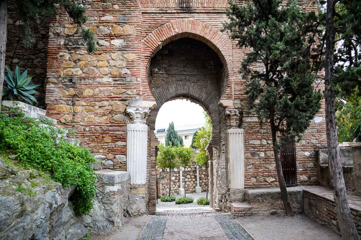 A gate in the Alcazaba