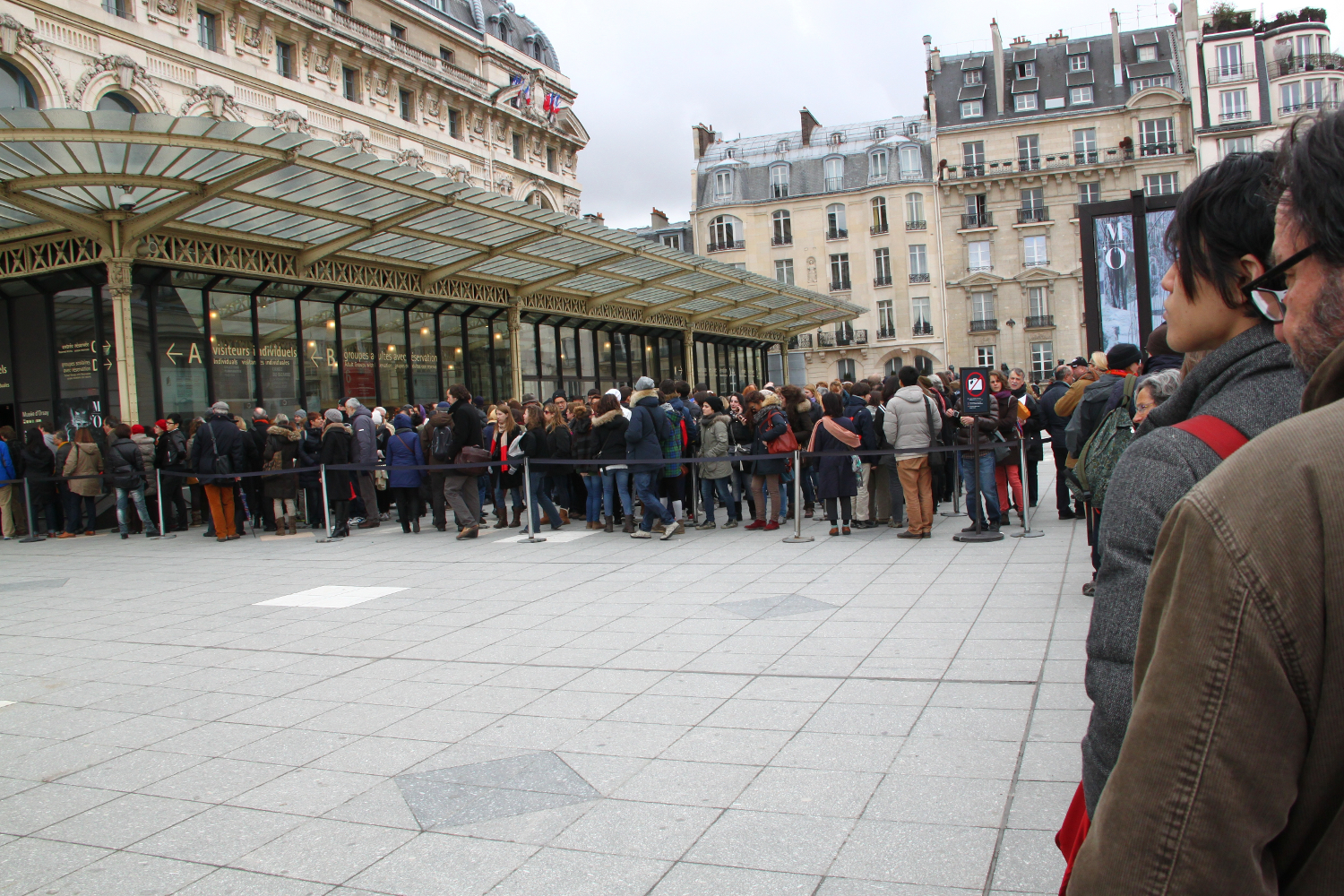 Waiting in line at Musee d'Orsay, Paris