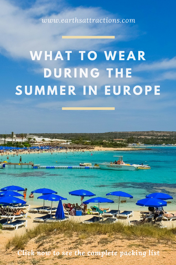Read this article to discover What to wear during the summer in Europe: a complete packing list for women for a beach vacation from a European #traveltips #travel #Europe #beach #holiday #trip