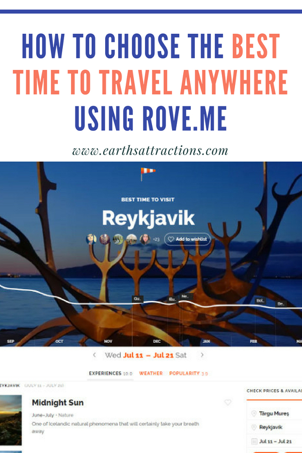 Travel tips: How to choose the best time to travel anywhere using Rove.me #travel #roveme #rovereview #traveltips