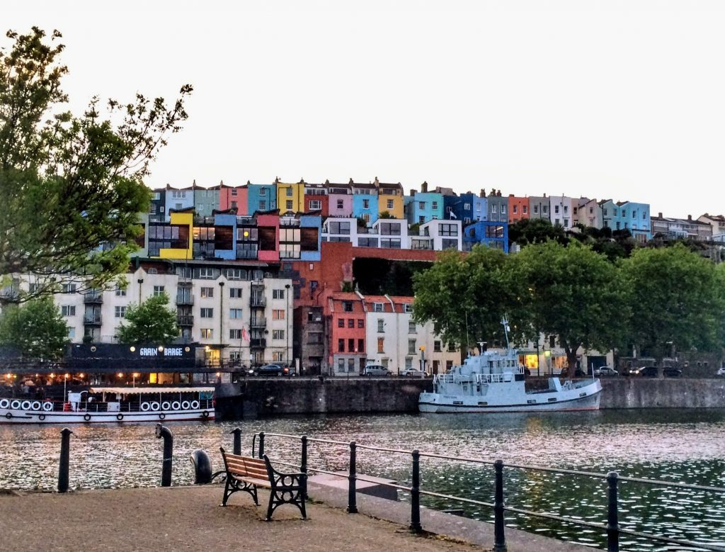 Colourful houses in Bristol, England. Read this article and discover what to do in Bristol, England. Use this local's guide to Bristol UK when you plan your trip here. #bristol #england #uk #bristoltraveling #travelbuide #bristolguide