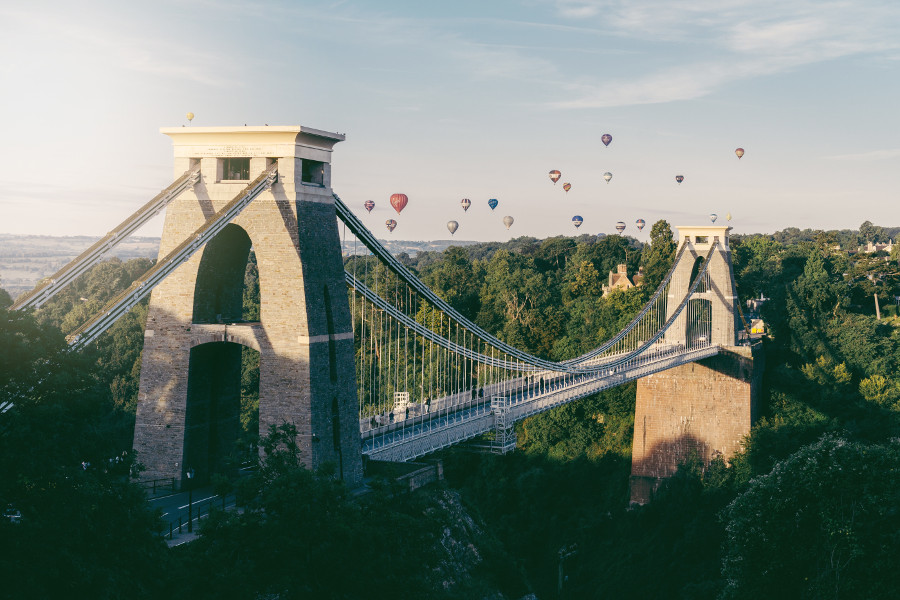 Clifton Suspension Bridge, Bristol - one of the must sees in Bristol. Read this article for more information on Bristol and discover the top things to see and do in Bristol. #bristol #england #uk #bristoltraveling #travelbuide #bristolguide