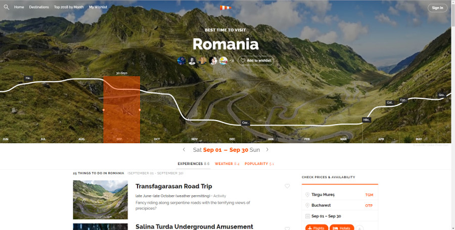 Rove.me - Romania in September - read the article for a complete review of Rove.me