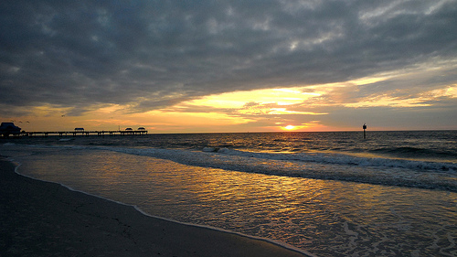 Sunset at Clearwater Beach, via Flickr