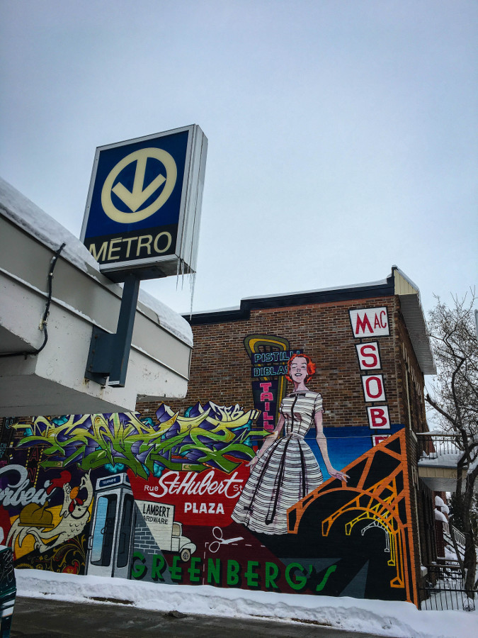 Graffiti in Montreal - Beaubien Metro. Read this local's guide to Montreal, Canada to discover the top attractions in Montreal, where to eat in Montreal, where to stay in Montreal, and Montreal tips from an insider. #montreal #montrealtravel #montrealguide #canada #america #northamerica #travelguide