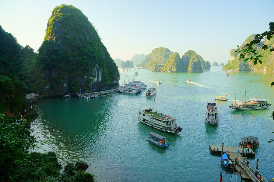 Halong Bay Cruise, Hanoi, Vietnam. Read this article and use it as your guide to Hà Nôi, Vietnam by an insider as it includes the best things to do in Hanoi, Vietnam, where to eat in Hanoi, where to stay in Hanoi, and Hanoi tips. #hanoi #vietnam #hanoitravel #hanoitips #hanoitraveling #hanoiguide #asiatravel #hanoifood #hanoiattractions