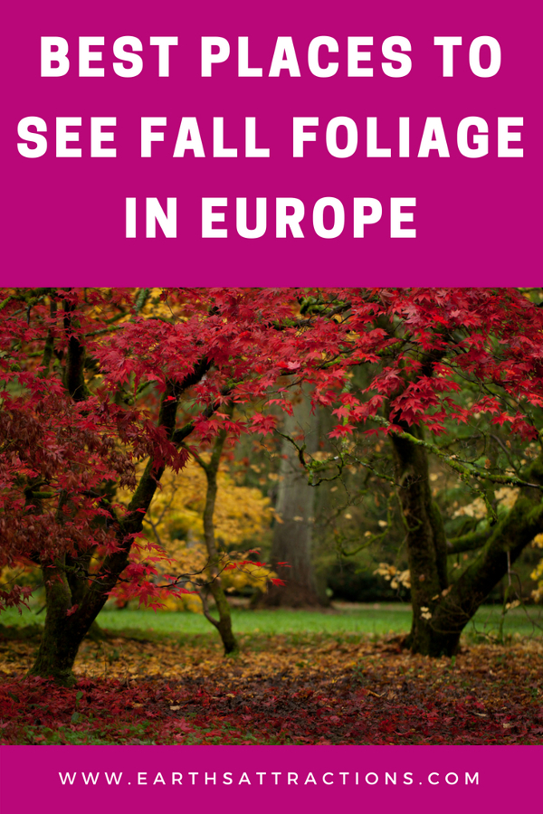Discover 20+ amazing places to see fall foliage in Europe! These are Europe's best places for fall Travel. You'll be able to admire wonderful autumn foliage trees everywhere! #Europe #fall #fallfoliage #foliage #europefoliage #fallcolors #fallcolours #colours #autumn #autumncolors #autumncolours