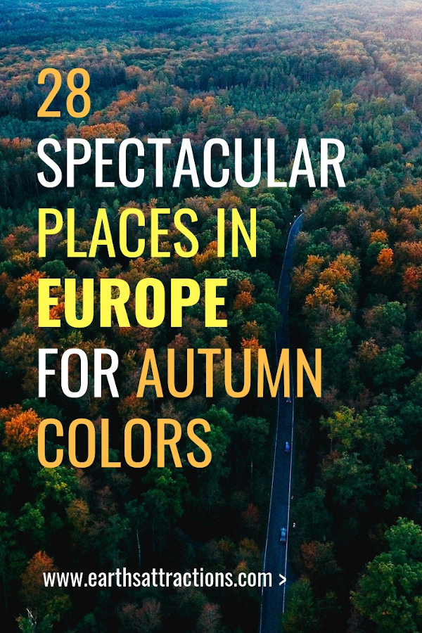 28 Spectacular places to visit for autumn colors in Europe. These are the best fall destinations in Europe. #europe #fall #autumn #travel #fallfoliage #autumncolors