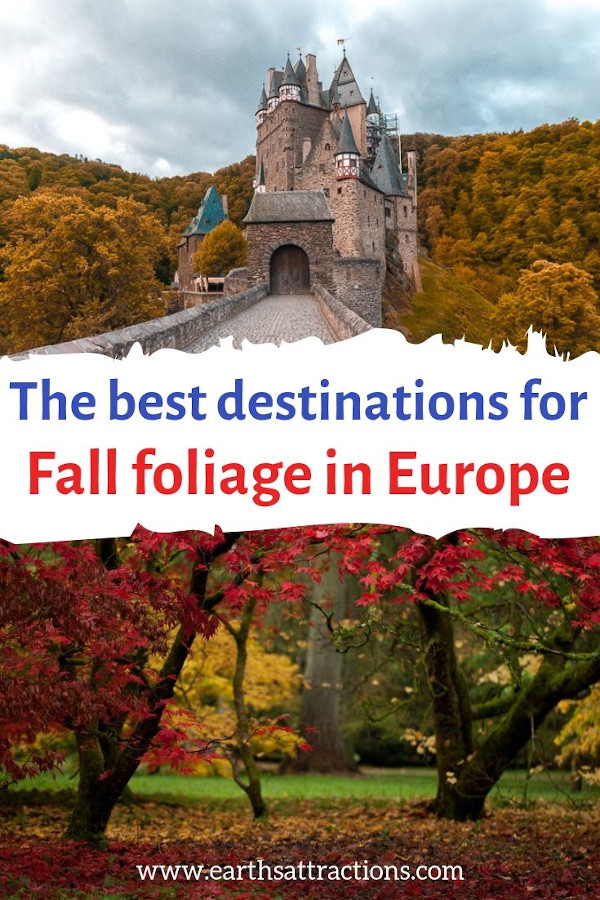 The best autumn destinations in Europe: Discover the top 28 autumn getaways for fall foliage in Europe #autumn #foliage #fall #fallfoliage #ravel #europe #getaways