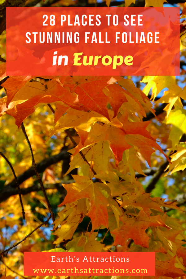 Do you like to see fall foliage in Europe? It's simply stunning! Discover 20+ amazing plaves to see fall colors in Europe (withc pictures). These are the best European trips in autumn! #Europe #fall #fallfoliage #foliage #europefoliage #fallcolors #fallcolours #colours#autumn #fall