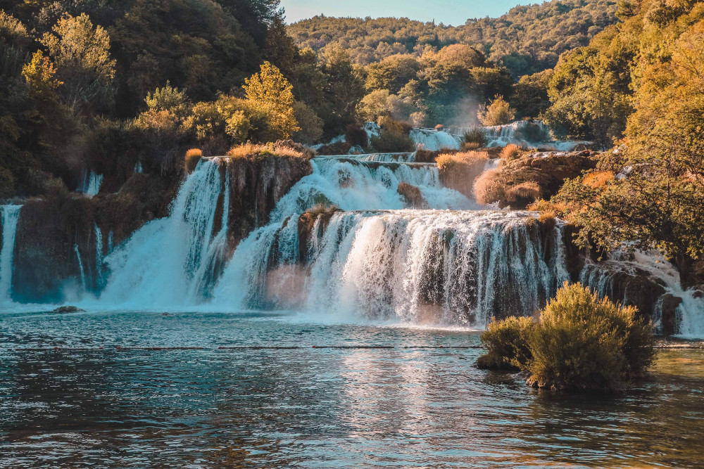Krka National Park, Croatia is best places to visit in Europe in autumn if you want to admire the stunning fall foliage in Europe. Read this article to see Europe's best places for fall travel. #Europe #fall #fallfoliage #foliage #europefoliage #fallcolors #fallcolours #colours#autumn #croatia