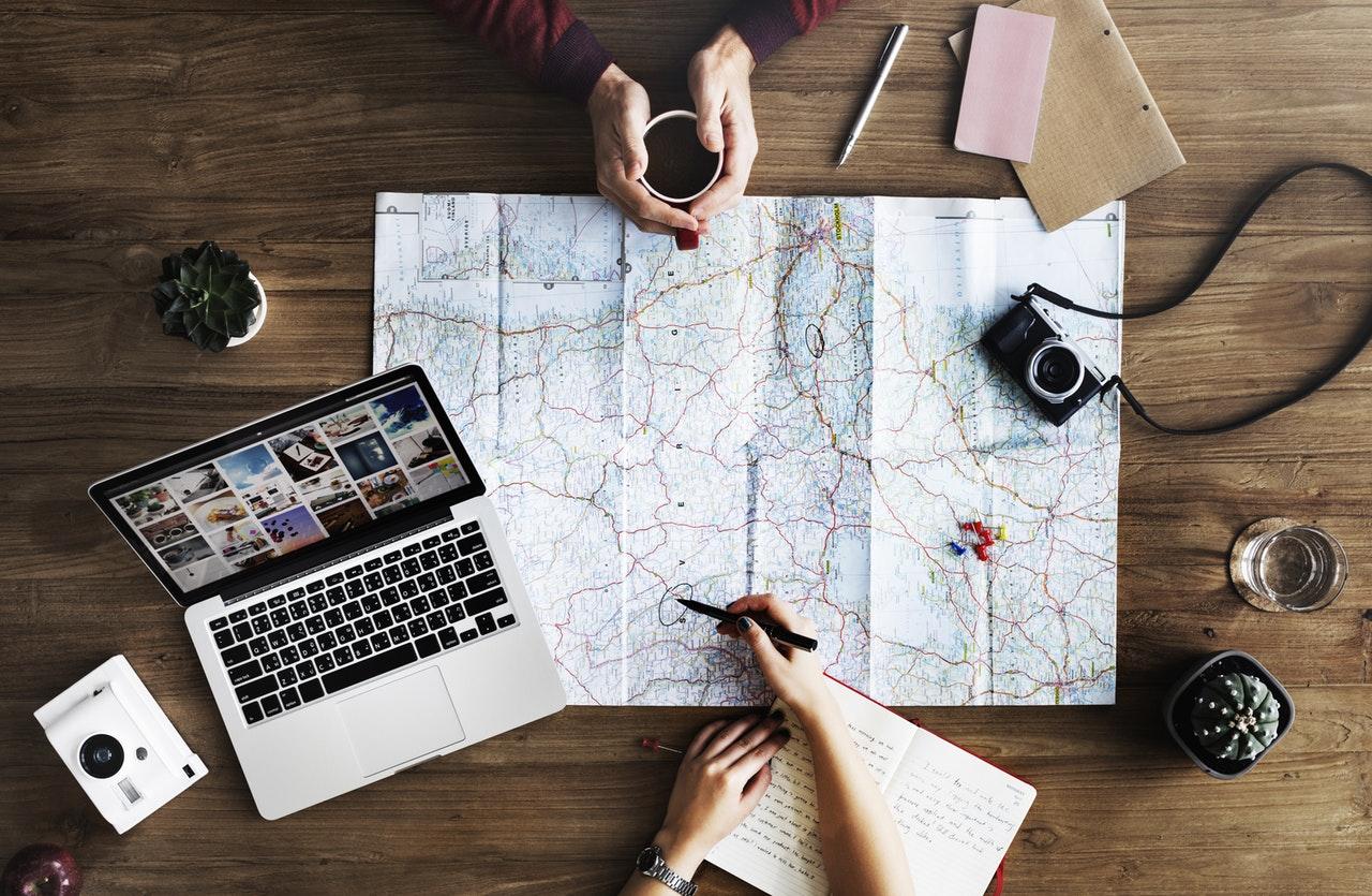 map travel pexels