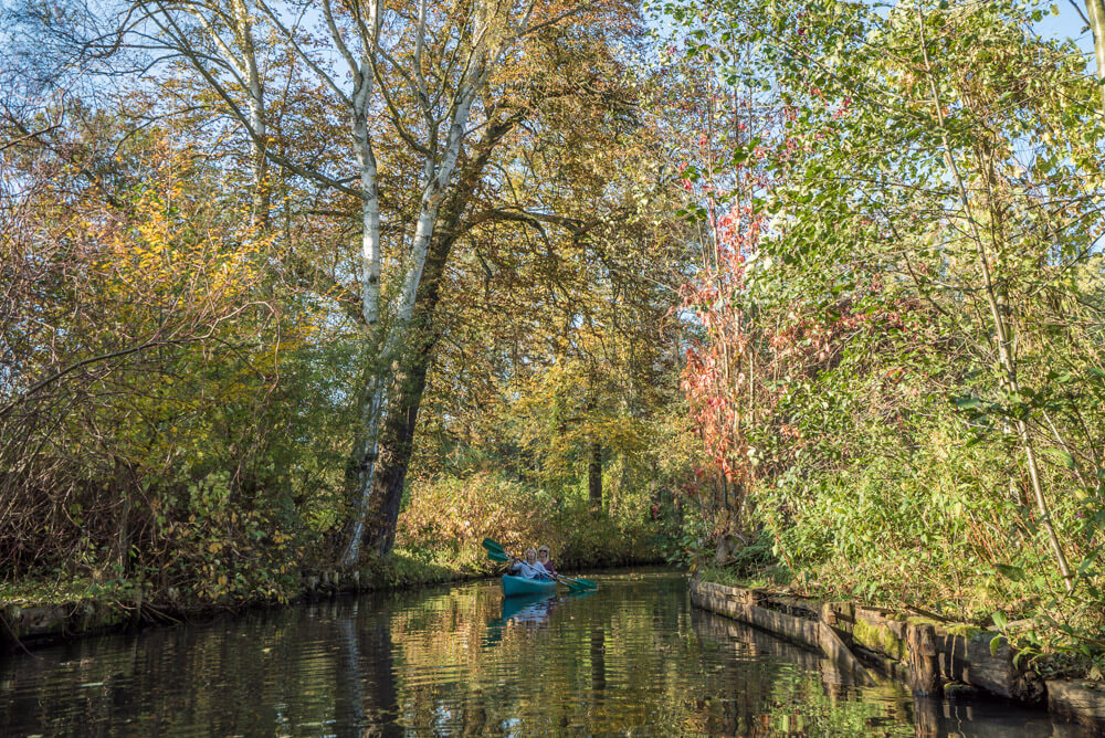 Spreewald, Germany is one of the best places to visit in Europe in autumn if you want to admire the stunning fall foliage in Europe. Read this article to see Europe's best places for fall travel. #Europe #fall #fallfoliage #foliage #europefoliage #fallcolors #fallcolours #colours#autumn #germany