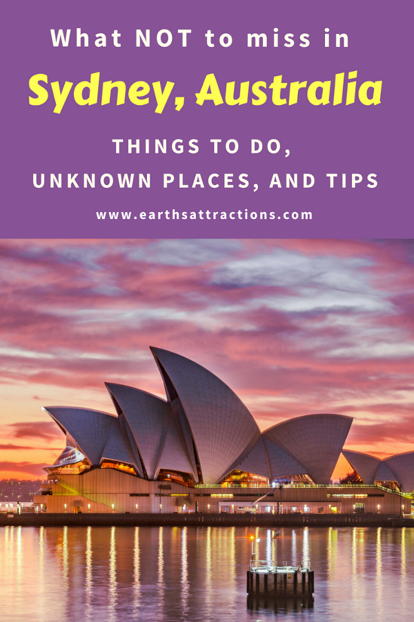Planning a trip to Sydney, Australia? Read this guide to Sydney, Australia and discover what not to miss in Sydney, the top attractions in Sydney, off the beaten path attractions in Sydney, and tips for Sydney. Save this pin to your board #Sydney #Australia #Sydneytravel #travelguide #tourist #attractions #travel #Sydneyguide #Sydneytravelguide