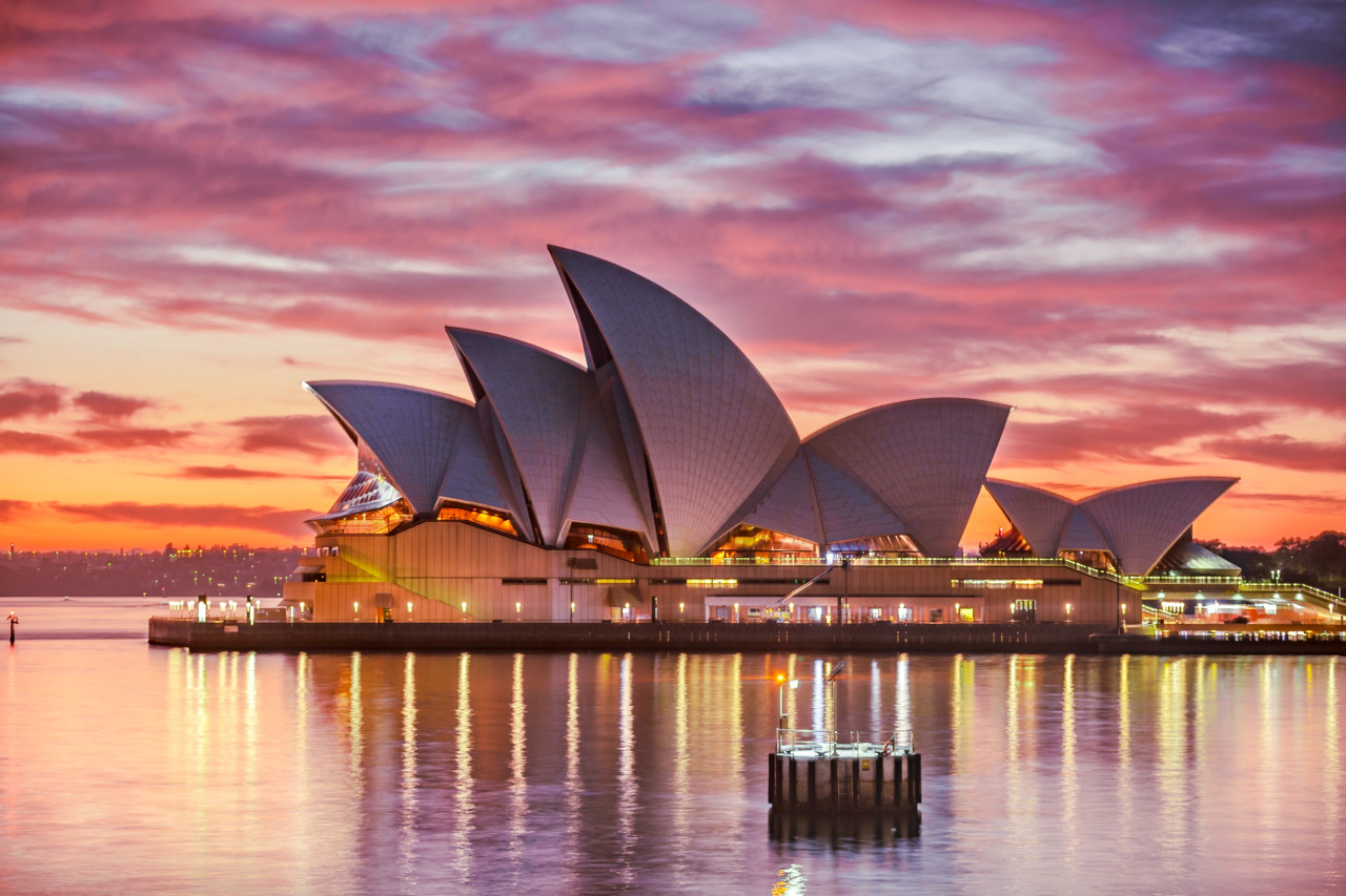 The famous Sydney Opera House, Australia. Planning a trip to Sydney, Australia? Read this guide to Sydney, Australia and discover the top attractions in Sydney, off the beaten path attractions in Sydney, and tips for Sydney. #Sydney #Australia #Sydneytravel #travelguide #tourist #attractions #travel #Sydneyguide #Sydneytravelguide