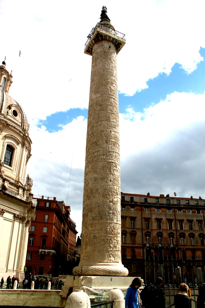 The famous Trajan's Column in Rome, Italy. Discover the best in Rome, off the beaten path attractions in Rome, food in Rome, Rome accommodation, tips for Rome in this insider's guide to Rome. #Rome #Italy #Rometravel #travelguide #tourist #attractions #travel #europe #romeguide #rometravelguide