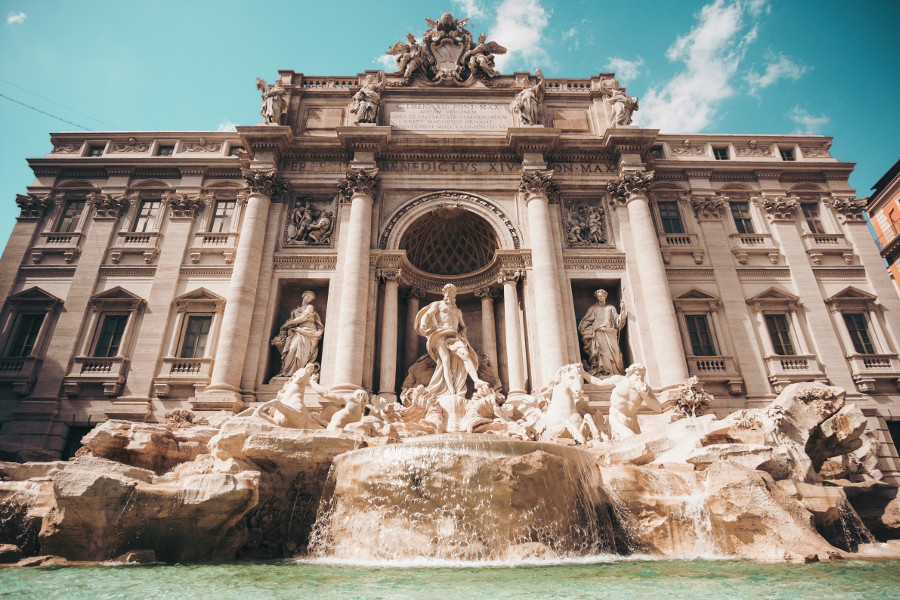 Fontana di Trevi or Trevi Fountain, Rome, Italy. Check out this insider's guide to Rome, Italy and discover the top things to see in Rome, the unknown gems in Rome, where to eat in Rome, where to stay in Rome (hotels in Rome), and tips for Rome from a local. for travel inspiration! #Rome #Italy #Rometravel #travelguide #tourist #attractions #travel #europe #romeguide #rometravelguide