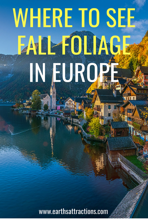 Where to see fall foliage in Europe - a comprehensive article with 20+ of the best places to visit in Europe in autumn. Save this pin to your boards #Europe #fall #fallfoliage #foliage #europefoliage #fallcolors #fallcolours #colours #autumn #autumncolors #autumncolours