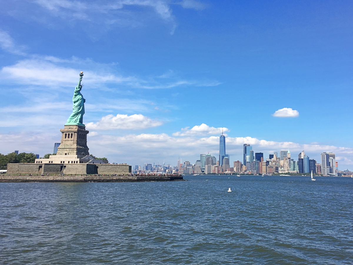 Statue of Liberty, New York City. Read this perfect NYC 3-day itinerary by a local - it includes the best things to do in New York City in three days. #nyc #usa #newyorkcity #nycguide #nycitinerary #nyctraveling #usatraveling #travelguide