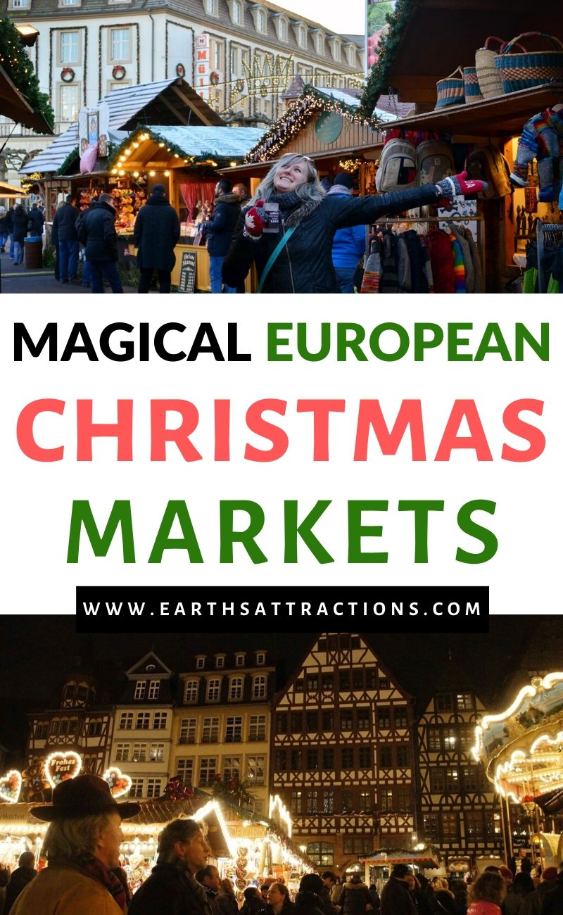 Magical European Christmas Markets to visit! These are the best Christmas destinations in Europe and the best Christmas markets in Europe that will mesmerize you. From popular Christmas markets such as the Vienna Christmas market to lesser known European Christmas Markets such as the one in Bucharest, the most special European Christmas markets are included! #christmas #christmasmarkets #christmasmarket #christmasmarketeurope #earthsattractions
