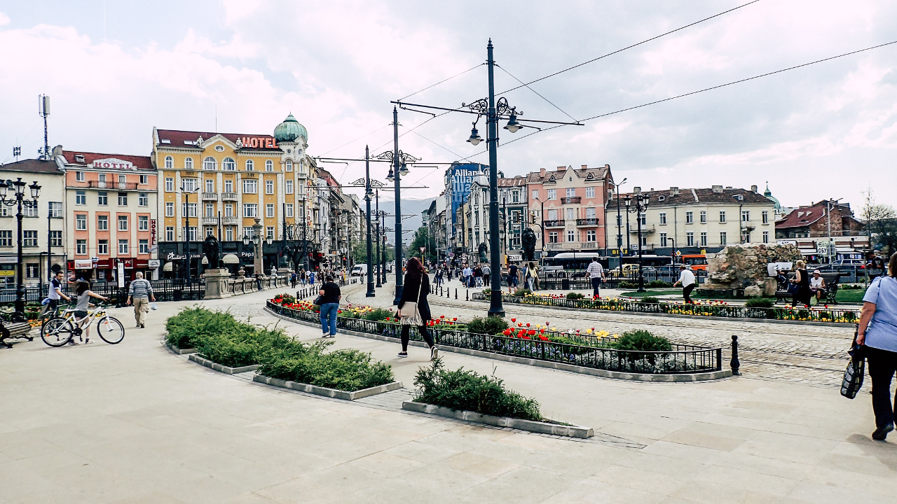 Lions' Bridge in Sofia. Discover the best places to visit in Sofia Bulgaria, what to eat in Sofia, and Sofia accommodation from this Sofia city guide. #sofia #sofiaguide #sofiatravelguide #sofiabulgaria #bulgaria