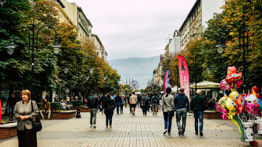 Vitosha Boulevard in Autumn. Read this Sofia travel guide and discover ALL the Sofia points of interest. #sofia #sofiaguide #sofiatravelguide #sofiabulgaria #bulgaria