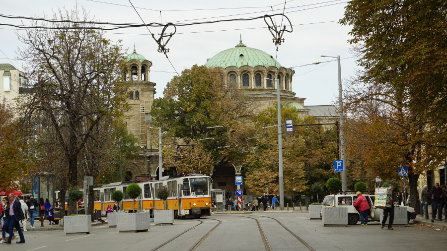 Trams in Sofia. Discover the public transport in Sofia, tourist attractions in Sofia, food in Sofia and Sofia travel tips from this Sofia guide. #sofia #sofiaguide #sofiatravelguide #sofiabulgaria #bulgaria