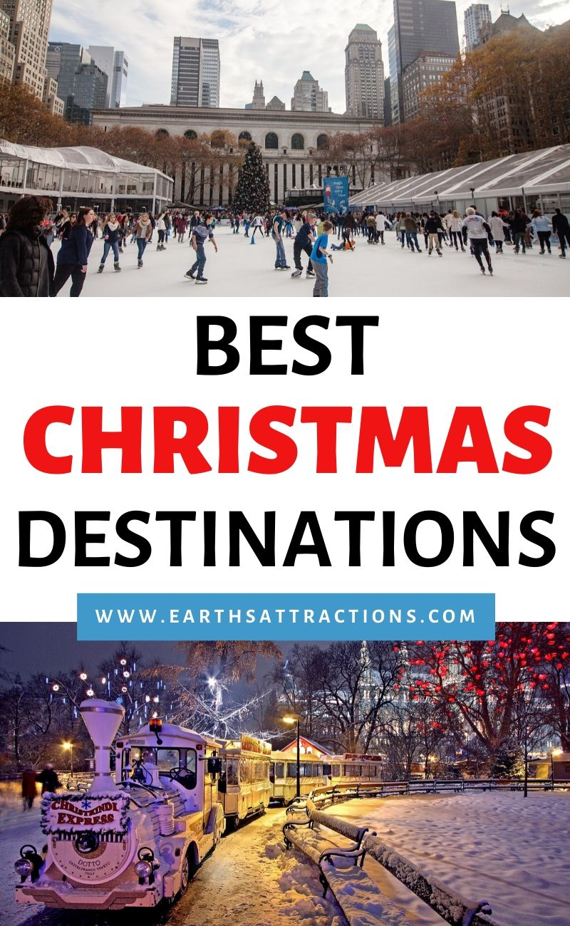The best Christmas destinations for a perfect Christmas holiday! Discover the 11 best cities to spend Christmas in this selection of the best Christmas vacation destinations across the globe! #christmas #usa #europe