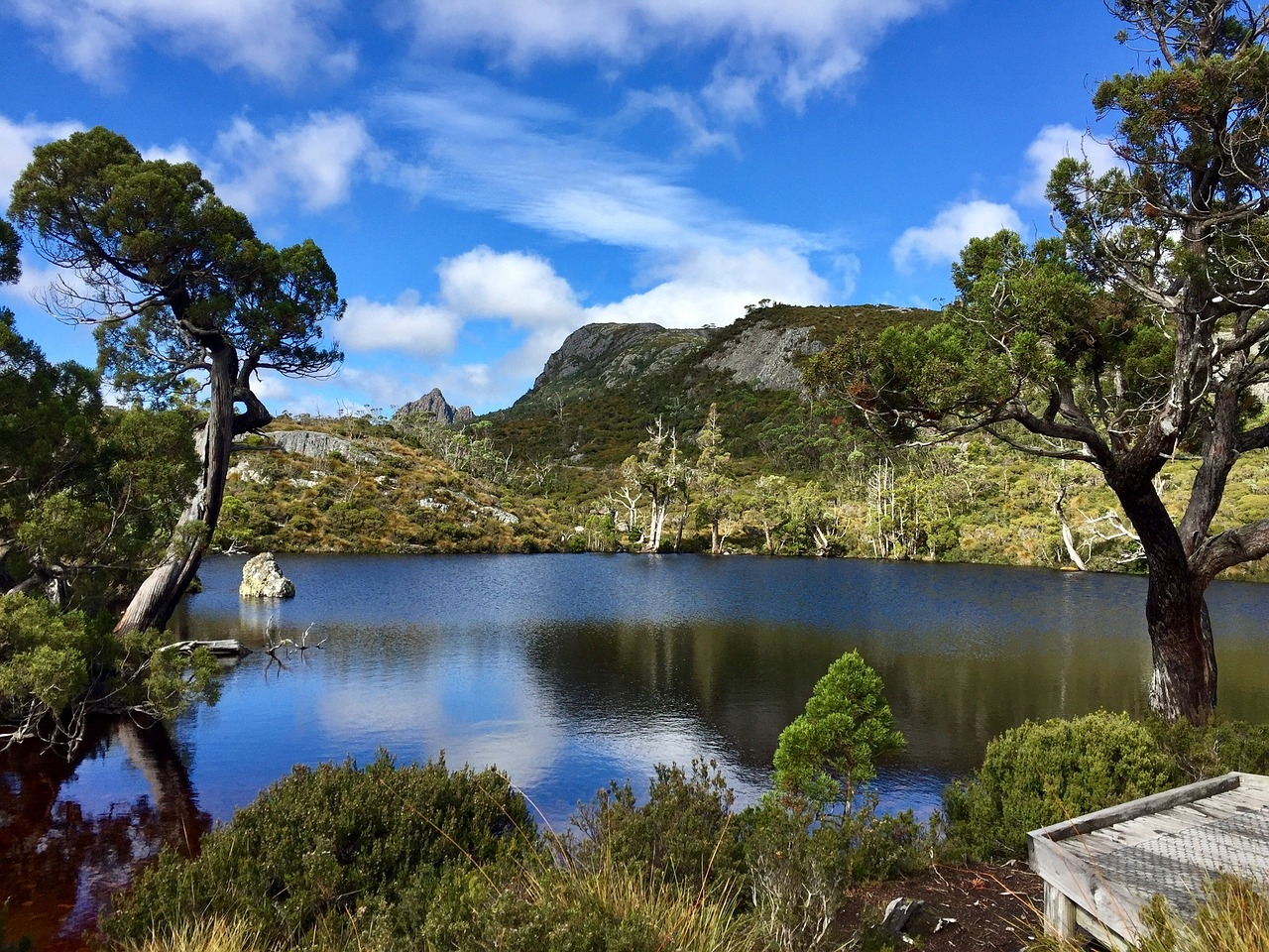 The Cradle Mountain, Tasmania is one of the 8 natural wonders to see in Tasmania. Read the article to discover them all. #tasmania #tasmaniawonders #tasmaniaattractions