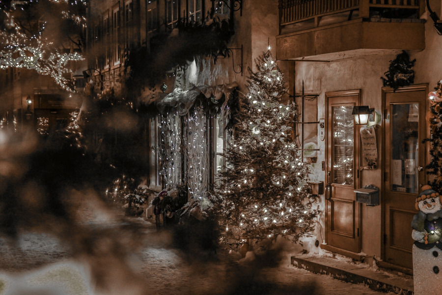 Quebec Christmas. Top Christmas holiday destinations