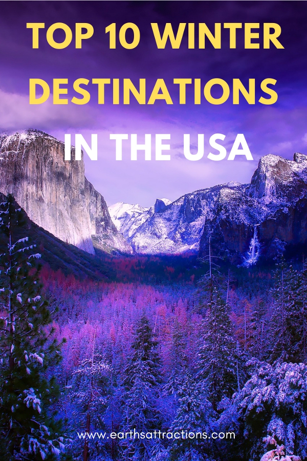Top 10 Winter destinations in the USA #usa #usawinter #winterusa