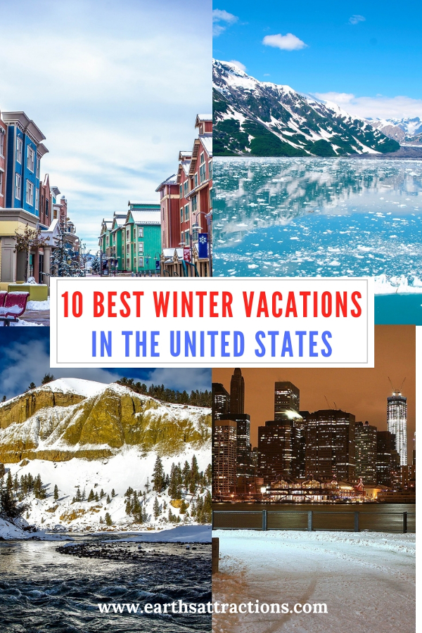 10 Best Winter Vacation spots in the United States #usa #usawinter #winterusa