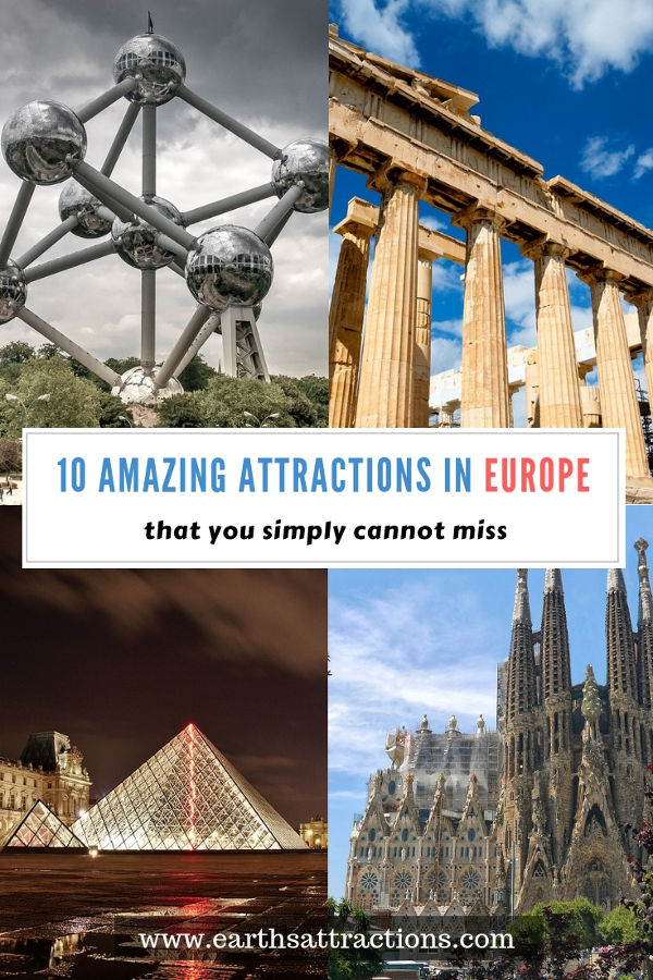 Discover the top 10 attractions in Europe that you must see before you die. #europe #europeattractions #europeplacestovisit