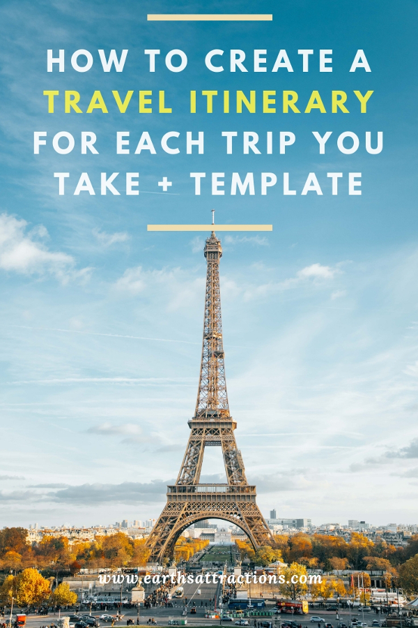 Are you planning a trip? Here are some useful travel tips: discover how to create a travel itinerary for each trip you take. Travel itinerary template included! #travel #travelplanning #travelitinerary #itinerary #traveltips