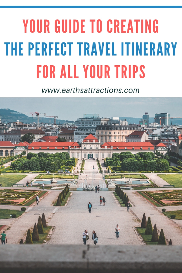 Useful trip planning tips: your guide to creating the perfect travel itinerary for all your trips. Use this vacation itinerary template every time! #travel #travelplanning #travelitinerary #itinerary #traveltips #vacation #holiday