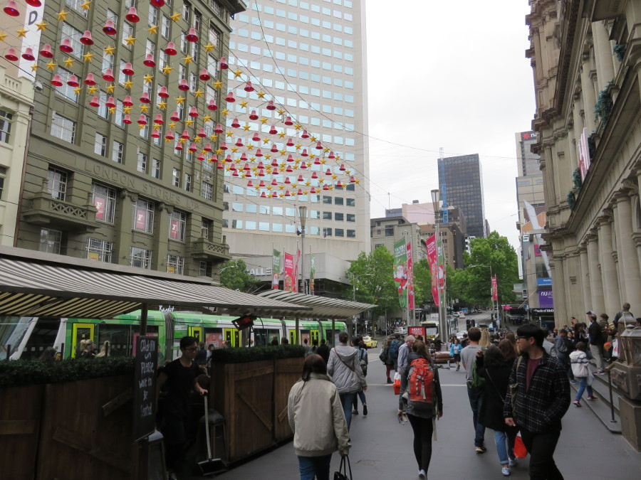 Bourke Street is one of the top attractions in Melbourne, Australia. Use this perfect 3-day itinerary for Melbourne to plan your trip. #melbourne #travel #melbourneattactions #tourism #australia #discovermelbourne #visitmelbourne #melbourneitinerary