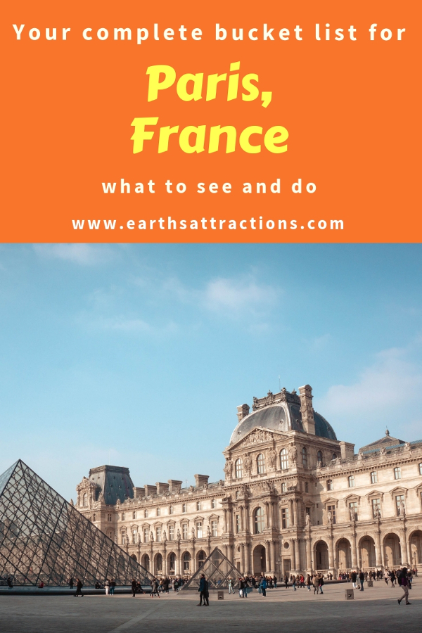 Planning a short trip to Paris? Here's is your bucket list for Paris for first timers. Use this list when creating your Paris itinerary as it includes the best Paris activities! Save this pin to your boards for inspiration. #paris #parisbucketlist #parislist #parisfrance #france #visitparis