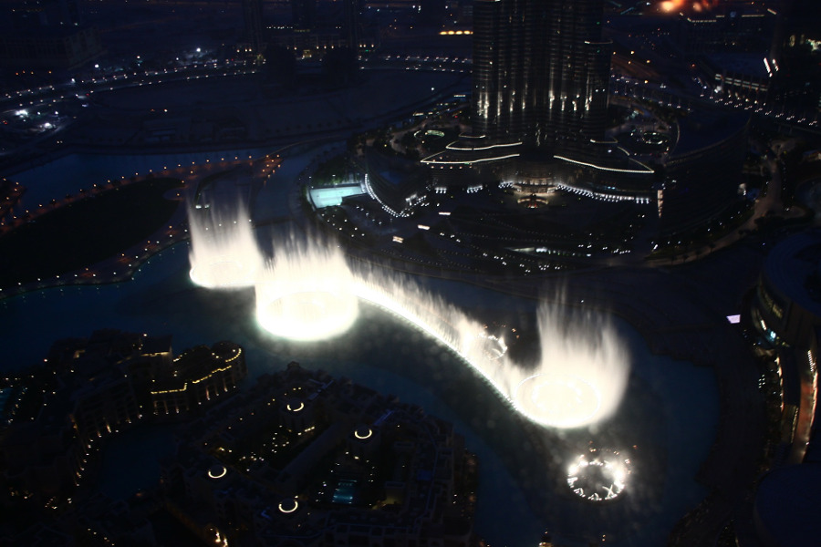 Dubai Fountain - one of the top tourist attractions in Dubai. Discover them all from this article