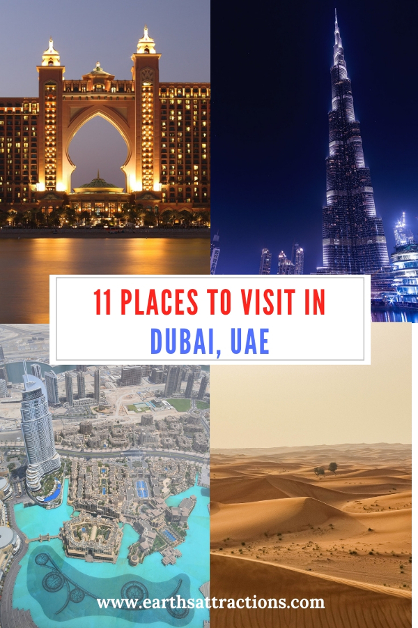 Discover the top 11 places to visit in Dubai, UAE: the best tourist attractions in Dubai and cool ways to Explore Dubai are included. #dubai #uae #travel #placestovisit
