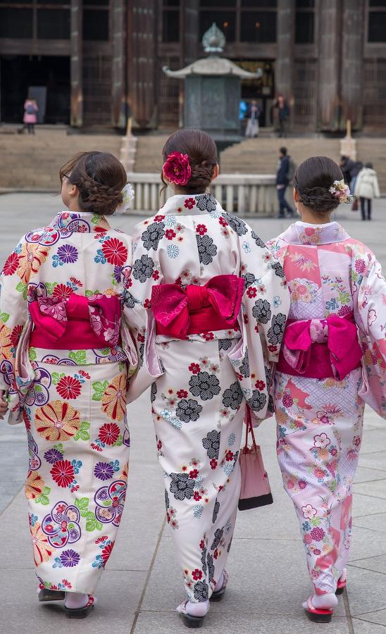 Women in kimono in Japan
