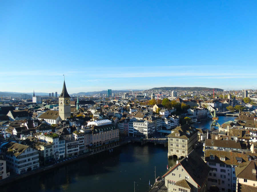 View of Zurich from Lindenhof. Discover the top Zurich attractions and useful travel tips from this complete Zurich guide.