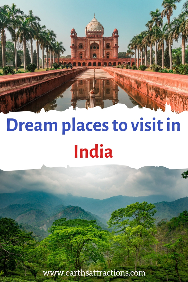 Dream places to visit in India - add these India destinations to your India bucket list. Save this pin to your boards #travel #india #asia #asiadestinations