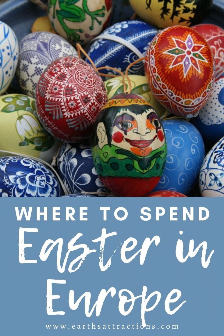 Wondering where to spend Easter in Europe? Discover the best Easter holiday destinations in Europe. These are the best cities to celebrate Easter in Europe so add them to your Easter destinations bucket list! #easter #europe #eastereurope #travel #rome #florence #paris #colmar #bucharest #earthsattractions