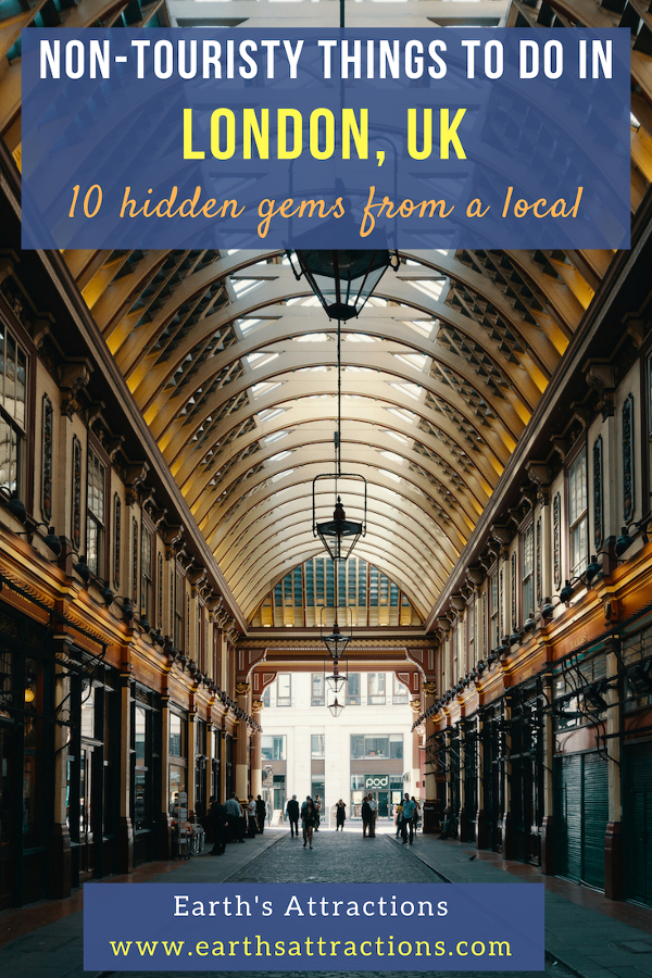 10 hidden gems in London, UK. Discover the best non-touristy things to do in London recommended by a local. #london #uk #londonattractions #europe
